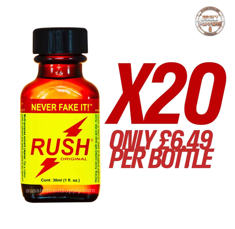 TRAY-  20 BOTTLES  Rush Room Odourisers Transparent 24ML