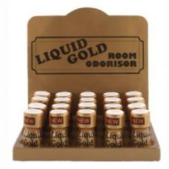 TRAY-  20 BOTTLES  Liquid Gold Room Odourisers Transparent 10ml